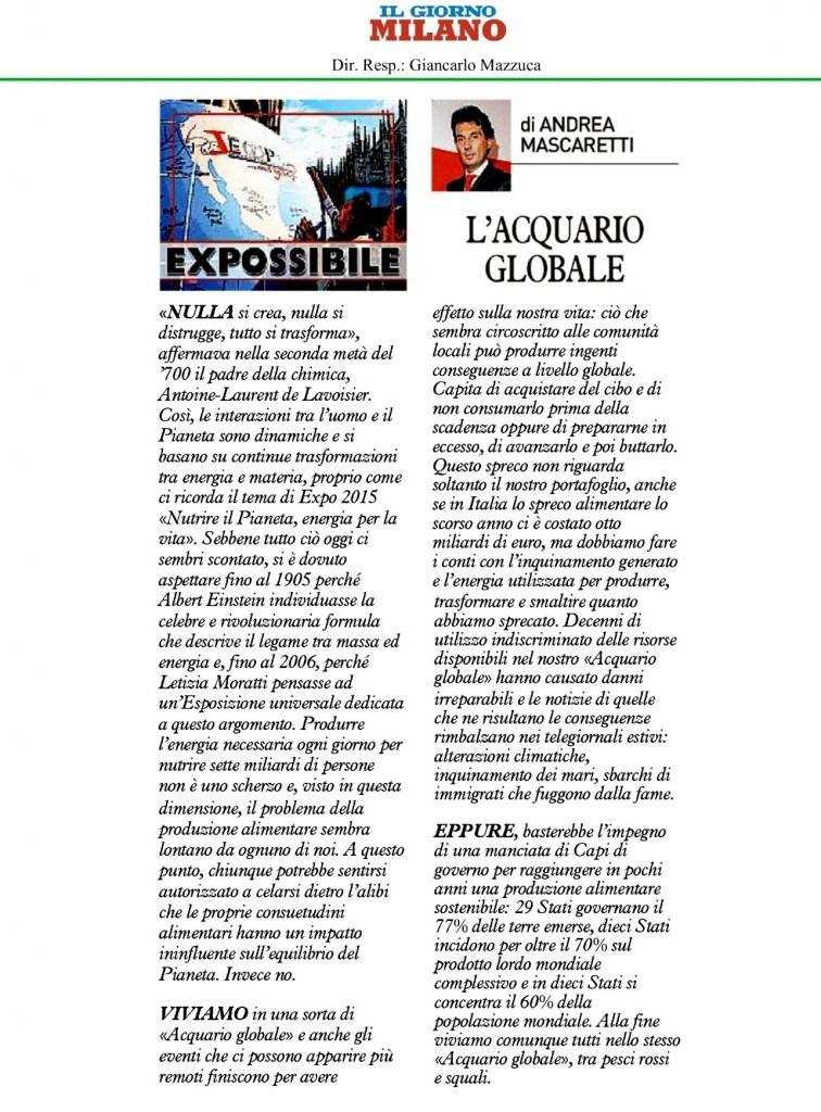 expossibile 20 agosto 2015 l'acquario globale